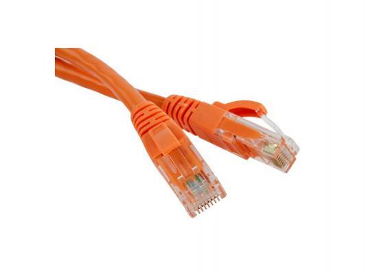 Патч-корд UTP 5е категории 1м Lanmaster LAN-45-45-1.0-OR оранжевый