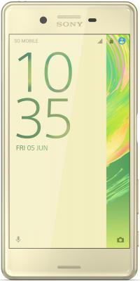 "Смартфон SONY Xperia X золотистый лайм 5"" 32 Гб NFC LTE Wi-Fi GPS F5121"