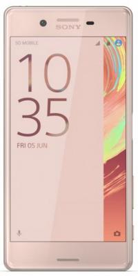"Смартфон SONY Xperia X розовый золотистый 5"" 32 Гб NFC LTE Wi-Fi GPS F5121"