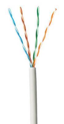 Кабель Panduit UTP кат 6 LSZH 4X2X23AWG внутренний 305м белый PUZ6AM04WH-CEG кабель информационный brand rex ac6 dcz eca rlx 305vt кат 6а u ftp инд экран пар lszh внутренний 305м фиолетовый
