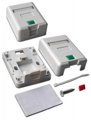 Коробка Lanmaster LAN-SA1/S-WH Keystone RJ45 кат.5e белый