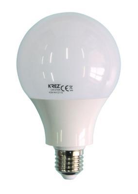 Лампа светодиодная шар KREZ E27 12W 2700K