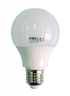 Лампа светодиодная шар KREZ E27 7W 2700K 4GM-WH125-01