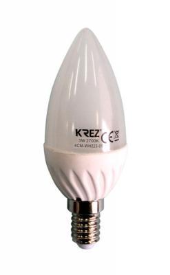 Лампа светодиодная свеча KREZ E14 3W 2700K 4CM-WH223-01
