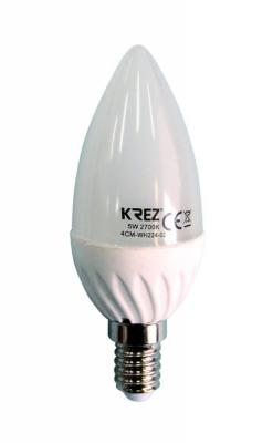 Лампа светодиодная свеча KREZ E14 5W 2700K 4CM-WH224-02 стоимость