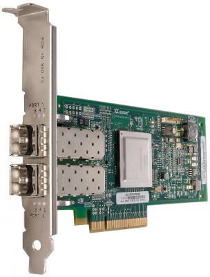 Адаптер Dell QLogic QLE2562 Dual Port 8Gbps Fibre Channel PCIe HBA Card Full Height 406-10695