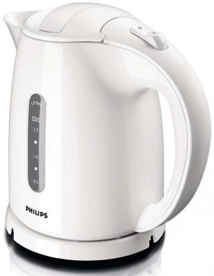 Чайник Philips HD 4646/00 2400 Вт белый 1.5 л пластик чайник philips hd4646 40 2400 вт белый красный 1 5 л пластик
