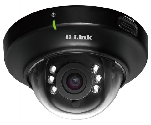 Камера IP D-Link DCS-6004L/UPA/A2A CMOS 1/4 1280 x 800 H.264 MJPEG MPEG-4 RJ-45 LAN PoE черный