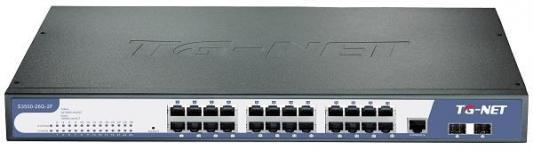 Купить Коммутатор TG-NET S3500-26G-2F управляемый L2 24 порта10/100/1000Mbps 2xSFP