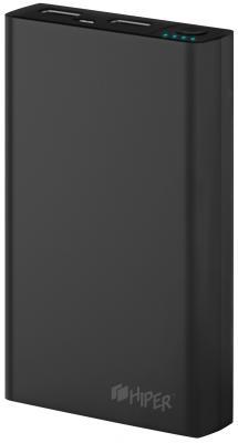 Портативное зарядное устройство HIPER RP8500 8500мАч черный портативное зарядное устройство hiper rp8500 8500мач белый