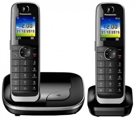 Фото Радиотелефон DECT Panasonic KX-TGJ312RUB черный радиотелефон dect panasonic kx tge110rub черный