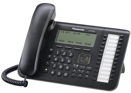 Телефон IP Panasonic KX-NT546RUB черный телефон panasonic kx ts2352rub черный