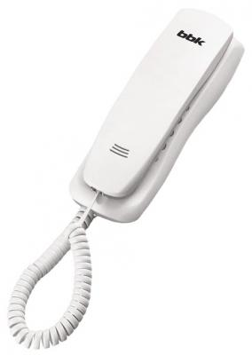 Телефон BBK BKT-105 RU белый проводной и dect телефон foreign products vtech ds6671 3