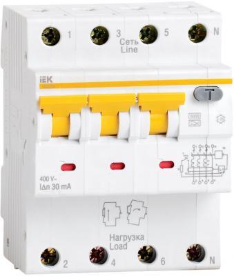 Выключатель дифференциального тока IEK АВДТ 34 C25 30мА 3П+Н MAD22-6-025-C-30