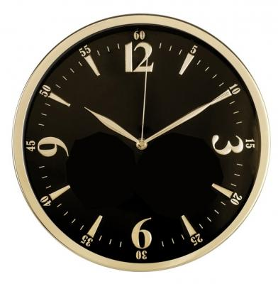 Часы Бюрократ WallC-R25M настенные аналоговые черный часы настенные аналоговые бюрократ черные