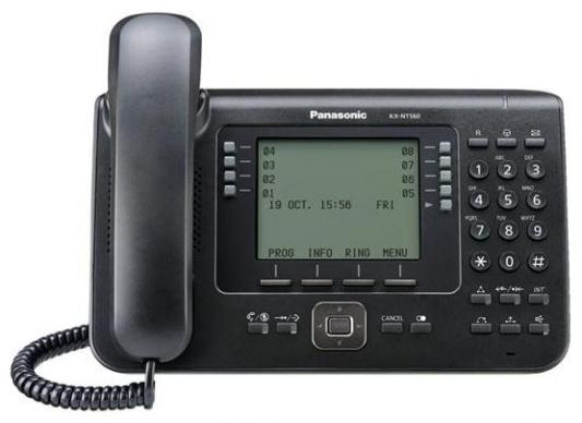 Телефон IP Panasonic KX-NT560RUB черный телефон ip panasonic kx nt553ru белый