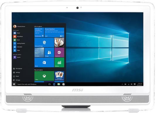 "Моноблок 22"" MSI Pro 22E 4BW-013RU 1920 x 1080 Intel Celeron-N3150 4Gb 500Gb Intel HD Graphics DOS белый 9S6-AC1612-013"