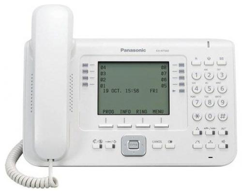 Телефон IP Panasonic KX-NT560RU белый телефон ip panasonic kx nt546rub черный