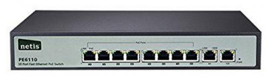 Коммутатор Netis PE6110 неуправляемый 8 портов 10/100Mbps 2xSFP
