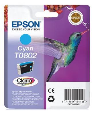 Картридж Epson C13T08024011 T0802 для P50/PX660  голубой epson t0802