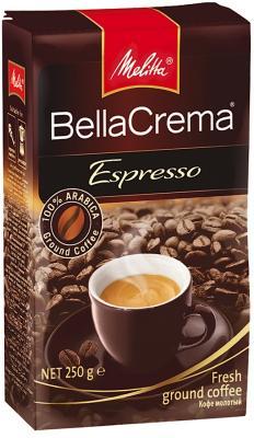 Кофе Melitta BellaCrema Espresso 250гр жареный молотый 00437 цены