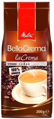 Кофе Melitta BellaCrema Cafe LaCrema 200гр жареный в зернах 00800