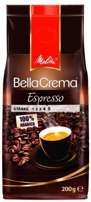 Кофе Melitta BellaCrema Cafe Espresso 200гр жареный в зернах 00820