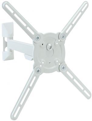Кронштейн Kromax ATLANTIS-10  белый 22-65 VESA 400х400мм наклонно-поворотный до 40кг кронштейн mart 101s черный для 10 26 настенный от стены 18мм vesa 100x100 до 25кг