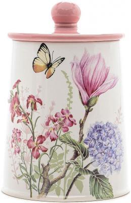 Банка для сыпучих Loraine LR-25632 с рисунком бабочки банка для сыпучих продуктов loraine lr 25635 бабочки