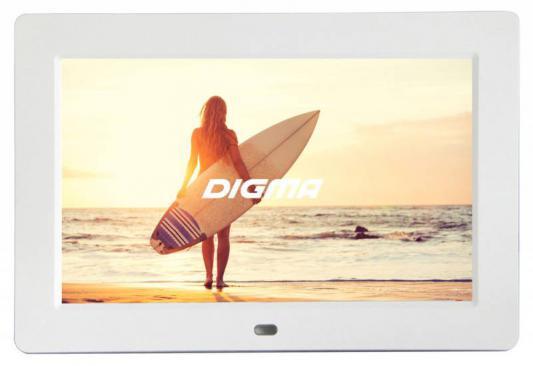"Цифровая фоторамка Digma PF-1033 белый 10.1"" 1024x600 пластик"