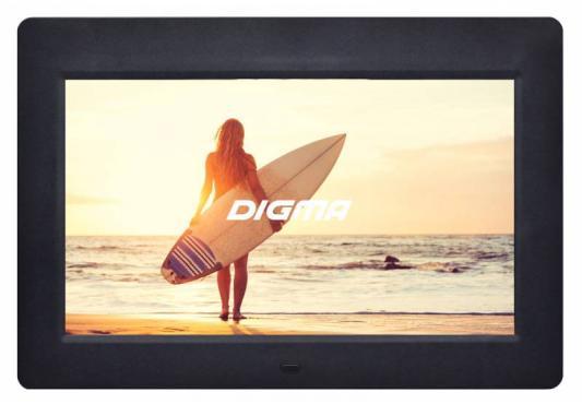 "Цифровая фоторамка Digma PF-1033 черный 10.1"" 1024x600 пластик"