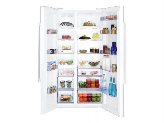 Холодильник Side by Side Beko GN163120W белый холодильник side by side samsung rs 552 nrua9m wt