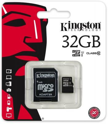 Карта памяти Micro SDHC 32GB Class 10 Kingston SDCIT/32GB + адаптер SD карта памяти other samsung evo 10 32 64 sd sdhc oem