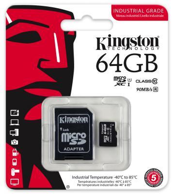 Карта памяти Micro SDXC 64GB Class 10 Kingston SDCIT/64GB + адаптер SD