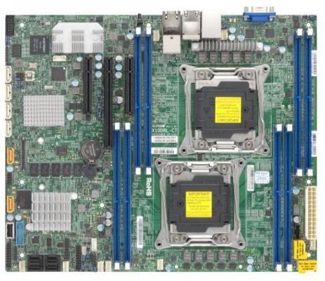 Мат. плата для ПК Supermicro MBD-X10DRL-CT-O 2 х Socket 2011-3 C612 8xDDR4 1xPCI-E 16x 2xPCI-E 8x 6xSATAIII ATX