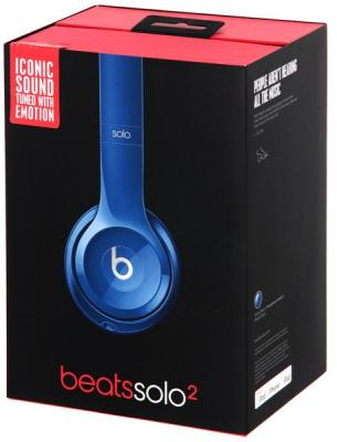 Наушники Apple Beats Solo2 On-Ear Headphones синий MHBJ2ZE/A наушники beats ep on ear headphones black ml992ze a