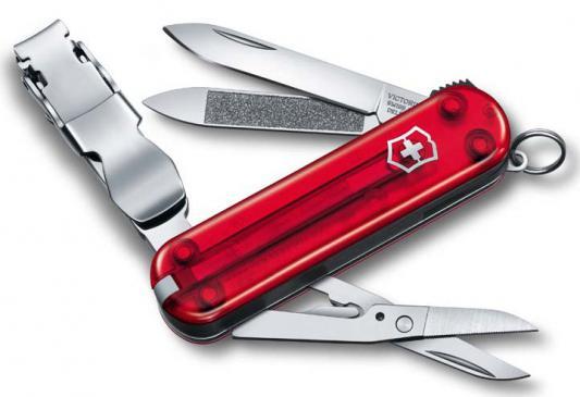Нож перочинный Victorinox Nail Clip 580 0.6463 65мм 8 функций красный