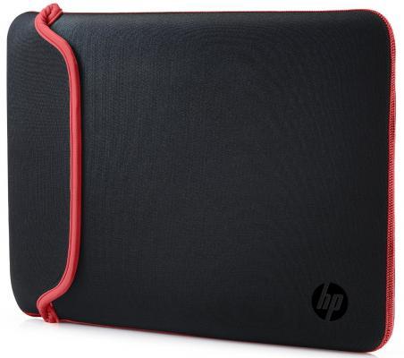 Сумка для ноутбука 13.3 HP Mini Sleeve черный красный V5C24AA папка для ноутбука до 13 hp chroma reversible sleeve v5c24aa