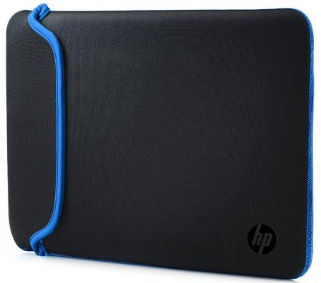 "Чехол для ноутбука 13.3"" HP Chroma Sleeve синий черный V5C25AA папка для ноутбука до 15 hp chroma reversible sleeve 15 6 v5c31aa"