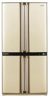 лучшая цена Холодильник Side by Side Sharp SJF95STBE бежевый