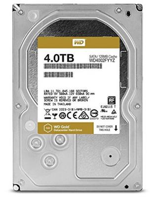 Жесткий диск 3.5 4 Tb 7200rpm 128Mb cache Western Digital Gold SATAIII WD4002FYYZ