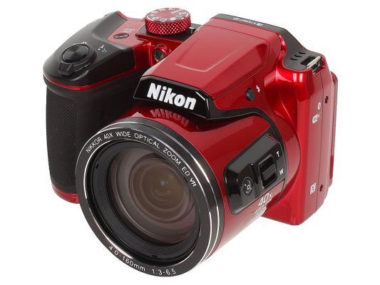 лучшая цена Фотоаппарат Nikon Coolpix B500 Red