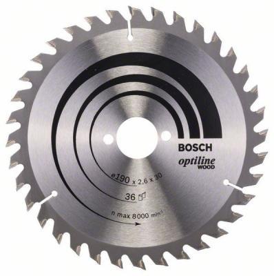 Пильный диск Bosch 190х30мм 2608640616