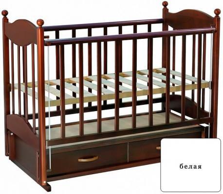 Кроватка с маятником Ведрус Эля (белая)