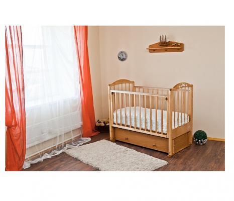 Кроватка с маятником Красная Звезда Регина (медовый/накладка №23)