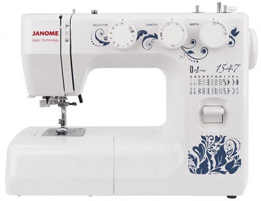 Швейная машина Janome 1547 белый швейная машинка janome sew mini deluxe