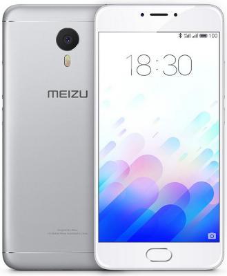 "Смартфон Meizu M3 Note серебристый 5.5"" 16 Гб LTE Wi-Fi GPS M681H"