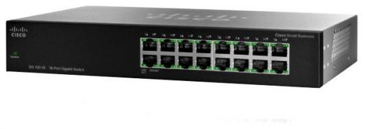 Коммутатор Cisco SF110-16-EU неуправляемый 16 портов 10/100Mbps цена