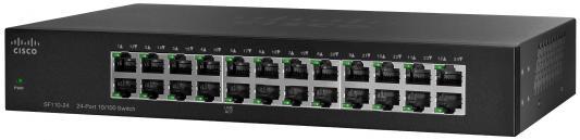 Коммутатор Cisco SF110-24-EU 24 порта 10/100Mbps коммутатор cisco sg110 24hp eu неуправляемый 24 порта 10 100 1000mbps