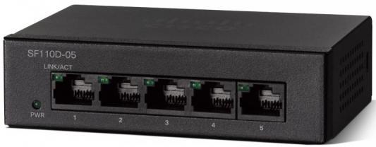 Коммутатор Cisco SF110D-05-EU 5 портов 10/100Mbps коммутатор cisco slm2048t eu